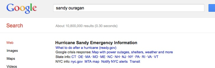 Google-sandy