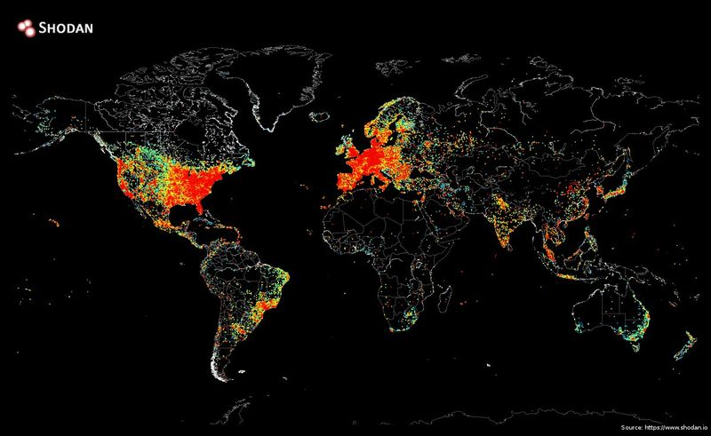 Internet connectivity map