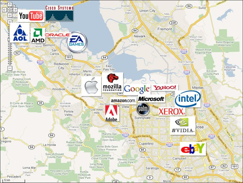 Carte-silicon-valley-logos-clubic