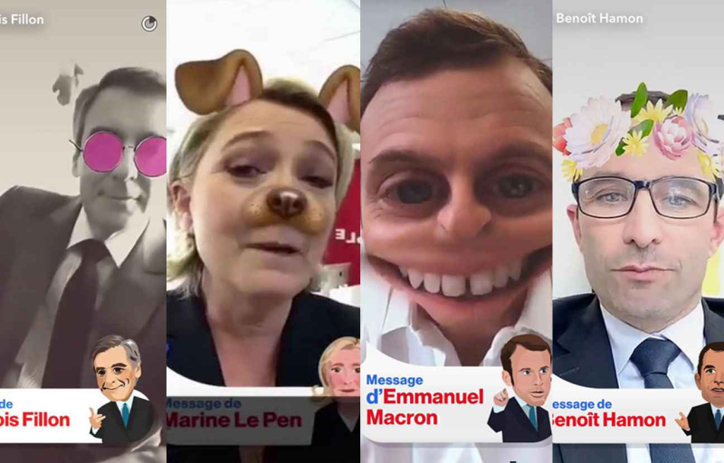 2048x1536-fit_capture-interviews-francois-fillon-marine-pen-emmanuel-macron-benoit-hamon-snapchat