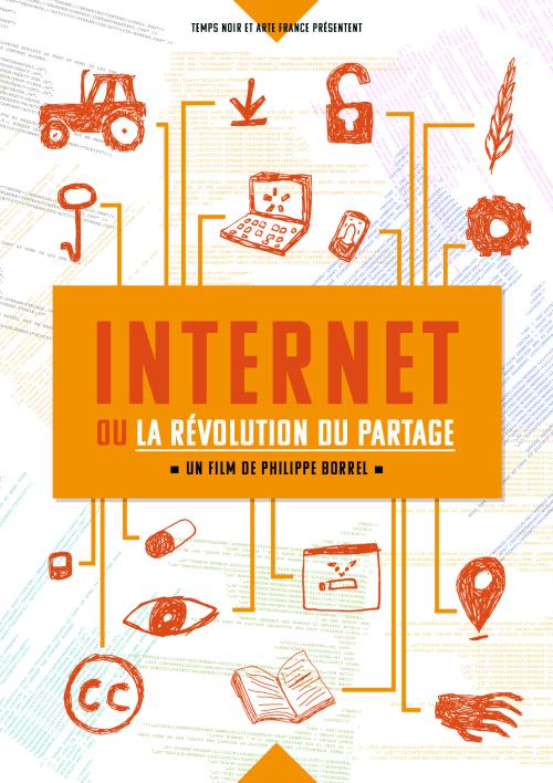 Affiche - Internet ou la revolution du partage - blanc
